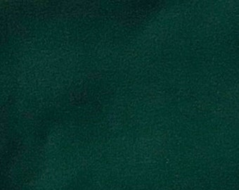 Forest Green - 10oz cotton/lycra knit fabric - 95/5 cotton/spandex jersey knit - By The Yard