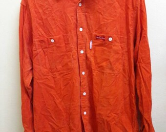 BUDWEISER orange shirt size LARGE