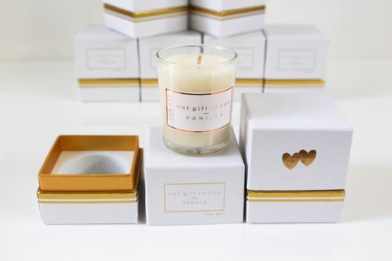 Wedding Favour Soy Candle