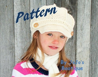 NEW!  Child to Adult Sizes - Newsboy Hat Pattern - Crochet Newsboy Hat Pattern - 4 Sizes included - Newsboy Pattern - by JoJo's Bootique