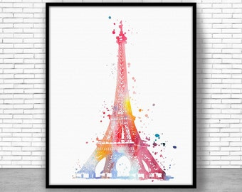 Eiffel Tower Print Eiffel Tower Decor eiffel tower art paris art paris print Watercolor Decor paris wall art ArtPrintZoneGift for Women