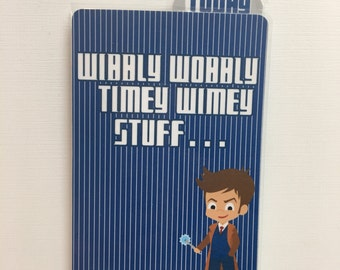 THE DOCTOR Laminated Dashboard for Traveler's Notebook | .3mil | 10th Doctor | DB013 |