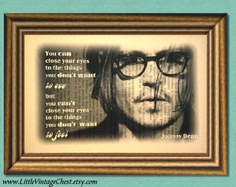 JOHNNY DEPP Quote - Dictionary Art Print - Wall Art