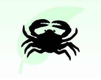 Crab Sea Life Vinyl Decal Sticker 009