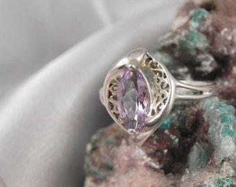 Genuine Amethyst Sterling Avon Ring