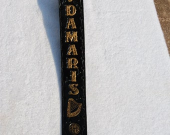 Leather Banjo Strap, 100% MADE IN USA! Personalized, Custom, Music Strap