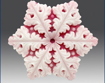 Silicone Soap n Floating Candle Mold  Snowflake 7 - free shipping