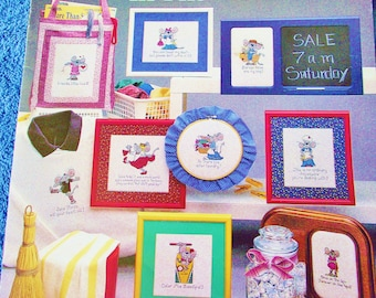 Cross Stitch Pattern -MOUSE In The HOUSE-   Leisure Arts Leaflet 415 - Designs By Cari