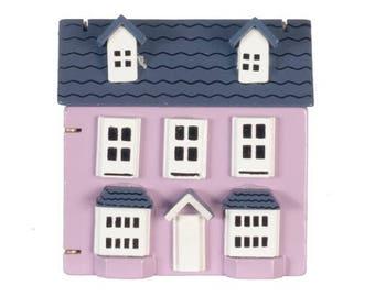Dollhouse Miniature Purple Dollhouse For Miniature Dolls