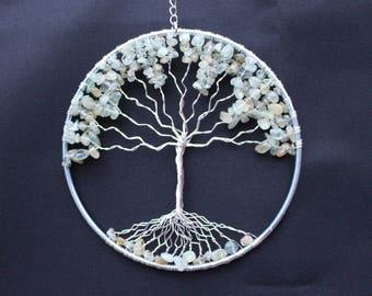 Handmade Hanging Semi Precious Tree Of Life