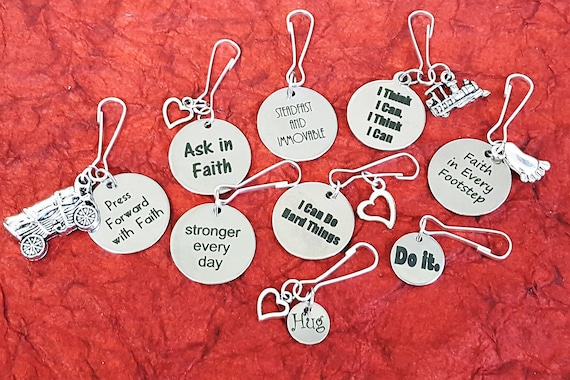 Gifts for LDS Young Men, LDS Jewelry Zipper Pulls, Youth Conference Theme Ideas, YM Theme Zipper Pulls, Lesson Teacher Ideas, Key Chain Ring