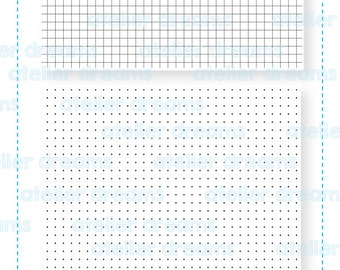 AD-018 GRIDS + DOTS - Planner Stamps (Photopolymer Clear Stamps) header stamp, eclp header stamp