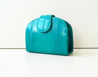 "Women's wallet, ladies wallet, womens purse, leather wallet ""June"" in green, turquoise, mint, wallet, purse, portefeuille, handmade, clip"