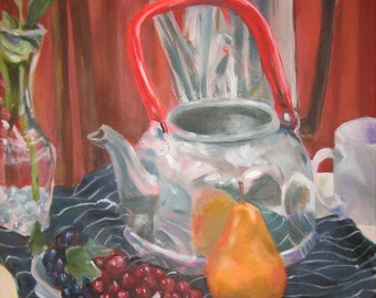 Pot, Kettle, Pear - original art