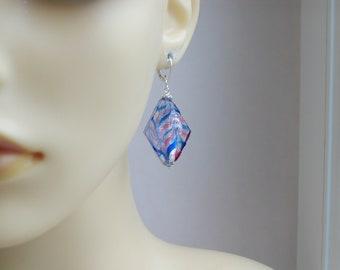 Murano Glass Silver Fenico Earrings
