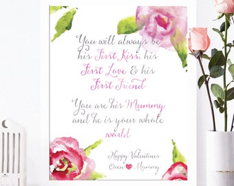 Personalized Valentine Print for Mom
