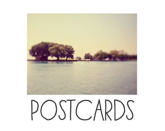 Postcards - Single Card - Blank Cards - These Are The Days - Water - Michigan - Island -  Summer