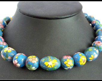Vintage Cloisonne Beaded Necklace