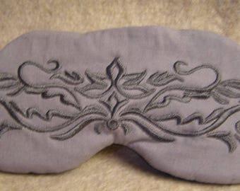 Embroidered Eye Mask for Sleeping, Cute Sleep Mask, Sleep Blindfold, Eye Shade, Slumber Mask,Damask Design, Handmade