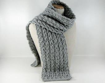 Scarf Crochet Pattern - Timeless Texture Scarf Crochet Pattern #406 - Instant Download PDF