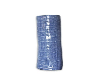 Vase light blue cylinder, single piece