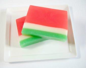 Watermelon Soap, Handmade Soap,  Soap for Kids, Glycerin Soap, Summer Soap, Teachers Gift, Fruit Soap, Vegan Soap, Soap for tweens