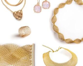Jewelry making DIY kit - DIY Jewelry kit - Craft kit - Crochet kit -  Crochet Patterns - EXTENDED kit vol 2 - Invisible Spool Knitting kit