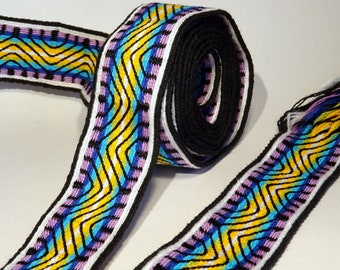 Handwoven band - tablet weaving inkle card loom mochila wayuu gypsy hippie belt cotton handmade bag strap