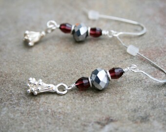 RENEW Crystal, Czech Glass, Hilltribe and Sterling Earrings