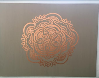 Bronze Mandala Painting