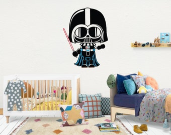 Darth Vader Star Wars / Wall Vinyl Decal Sticker / Nursery Baby Toddler Kid Children Room / Decor Decoration / Gift Present /Baby shower