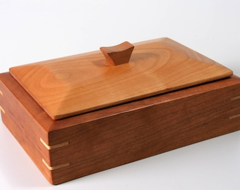 Wood Box | Cherry and Maple | Keepsake | Jewelry | Valet Box
