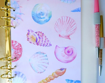 Sea Shells Personal, A5, A6, B6 & Pocket Size Planner Dashboards