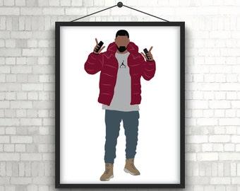 "Drake ""hotline ting"" limited print"