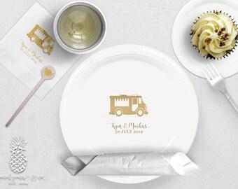 Food Truck Party | Plates, Napkins or Cups Stir Stick | Weddings, Bachelorette, Engagement Bridal Parties or Baby Showers | social graces Co
