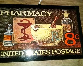 Vintage warm o tray model 60 pharmacy stamp design, works