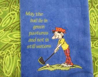 Personalized Golf, Embroidered Golf Towel, Velour/Terry 16X26, Men's Towel