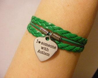 Autism bracelet, autism jewelry, I Love Someone with Autism bracelet, I Love Someone with Autism jewelry, fashion bracelet, fashion jewelry