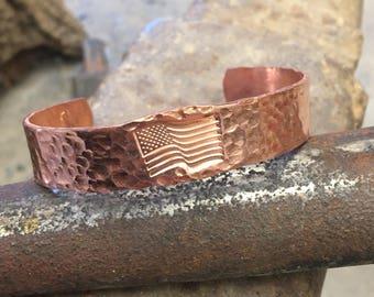 Hand forged cuff bracelet