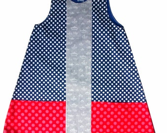 Pinafore dress - Girl - size 6 - my little boat