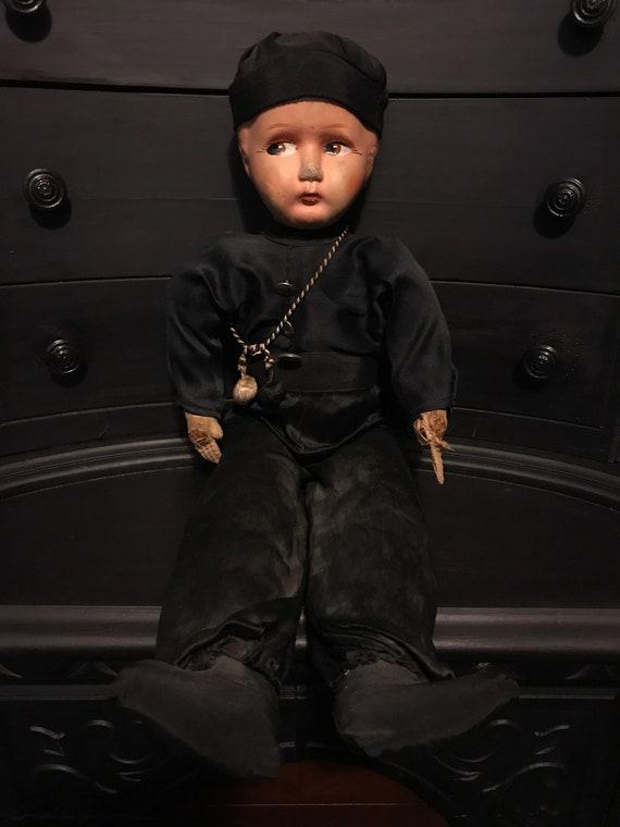 Antique Composition Boy Doll