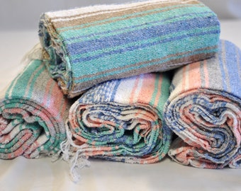 Customized Pastel Mexican Blankets