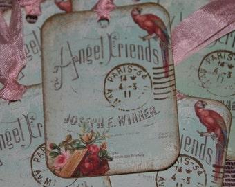 Sweet ANGEL FRIENDS Paris Inspired Advertising Gift Hang Tags