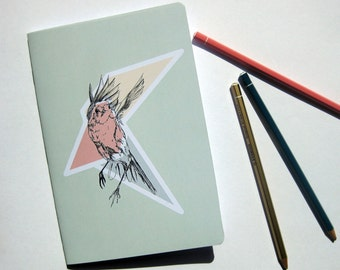 book, graphic illustration, bird, geometric pattern