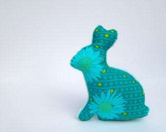 Bunny Softie Minky Plush Baby Toy Aqua Teal Blue