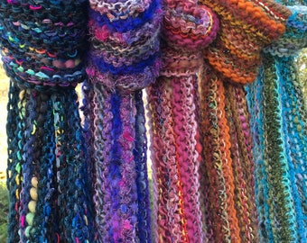 Mixed Fiber Scarves
