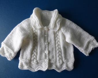 Baby's White Cardigan