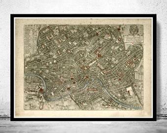 Vintage Map of Rome Roma Italia 1773 Antique map of Rome