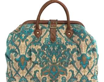 Mary Poppins Style Large Custom Carpet Bag / Travel Bag