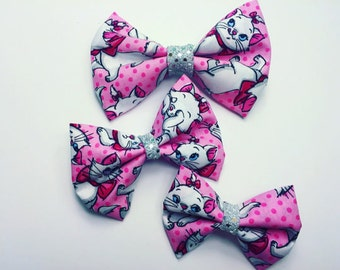 Marie Aristocats Bows - Marie Bows - Aristocats Bows - Disney Bows - Aristocats Marie - Disney Hair Accessories - Disney Hair Clips